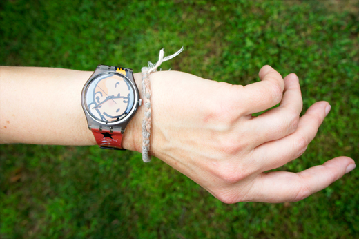 Regine's bracelet and watch